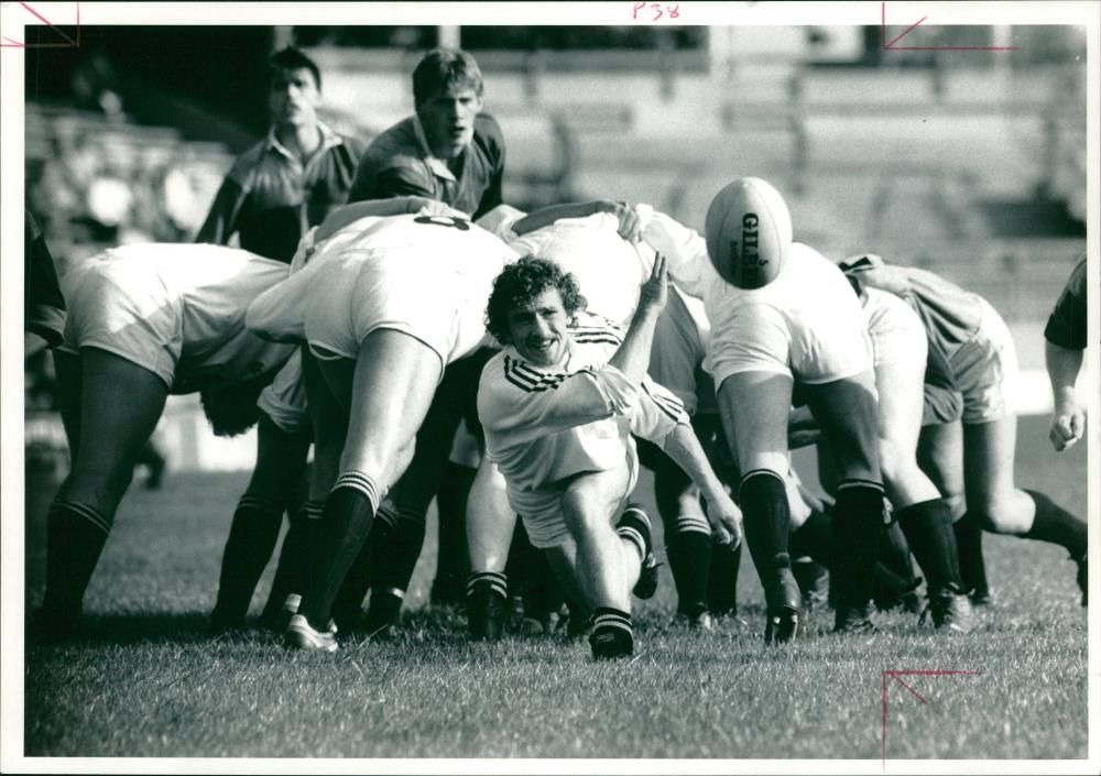 A. D. Williams during rugby match