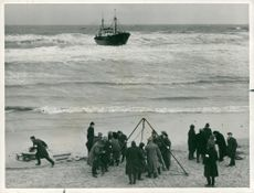 Shipwrecks/Accidents: St. Pierre Eglise with Members of Winterton Rocket Life Saving Company