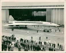 Concorde 002 rolled out from the Assembly Line at Filton, Bristol, Sep. 1968.