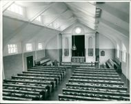 The interior of the chapel at Norwich training college at Keswick.