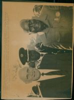 Presidents Meet, President Kenneth Kaunda with President elect De Klerk