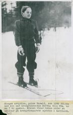 Prince Harald during a ski trip on the Crown Prince's property in Maryland