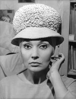 Ludmilla Tcherina wearing a hat.