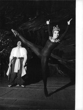 Ludmilla Tcherina during a ballet performance.
