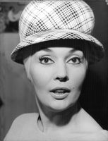 Ludmilla Tcherina in a stylish hat.