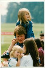 Earl Spencer with his children