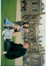 Earl Spencer and Victoria with their children
