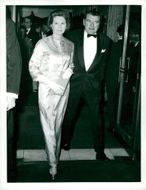 Jack Hawkins with his wife at the premiere of
