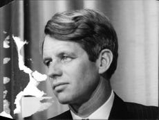 "American politician, Robert Francis ""Bobby"" Kennedy. 1968."