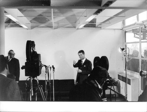 """Robert Francis """"Bobby"""" Kennedy during a photo shoot."""