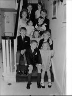 "Robert Francis ""Bobby"" Kennedy posing for picture with his family."