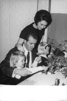 Juan Carlos and Sofia with children. 1968.