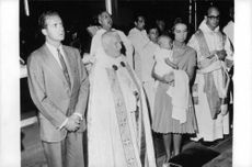 Juan Carlos and Sofia at the christening of their child. 1968.