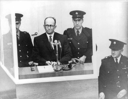 Adolf Eichmann on trial.