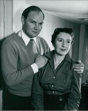 Cliff Michelmore with wife Jean Metcalfe.