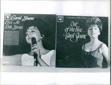Cover photos of two of Carol Sloane albums.