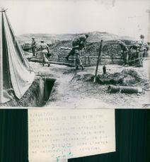 Army camp during the Vietnam war.