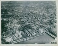 Aerial view of London during the war.