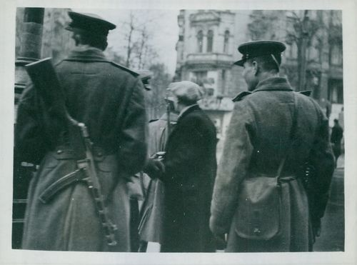 Russians enter British sector in Berlin in search of Russian deserters.