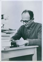 Adolf Eichmann writing.