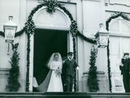 Princess Margriet Francisca of the Netherlands and Pieter van Vollenhoven, Jr.'s wedding picture.