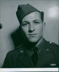 Portrait of James P. Edwards, an army of England during the war time in 1942.