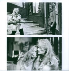 """Different scenes from the film """"Death Becomes Her"""", with Meryl Streep as Madeline Ashton and Goldie Hawn as Helen Sharp, 1992."""