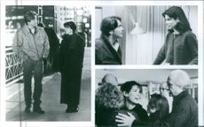 """Scenes from the movie """"While You Were Sleeping"""", with Sandra Bullock as Narrator/Lucy Eleanor Moderatz and Bill Pullman as Jack Callaghan, 1995."""