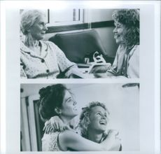 """Different scenes from the film """"Fried Green Tomatoes"""", with Jessica Tandy as Ninny Threadgoode, Kathy Bates as Evelyn Couch, Mary-Louise Parker as Ruth Jamison and Mary Stuart Masterson as Imogene """"Idgie"""" Threadgoode, 1991."""