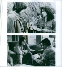 """Different scenes from the film """"Permanent Record"""", with Keanu Reeves, 1988."""