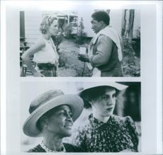 Two scenes from the film Fried Green Tomatoes with Mary Stuart Masterson, Stan Shaw, Cicely Tyson and Mary-Louise Parker, 1991.