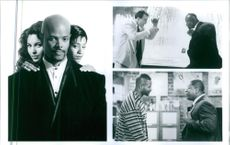 Three scenes from the film A Low Down Dirty Shame with Keenen Ivory Wayans, Salli Richardson, Jada Pinkett and Andrew Divoff, 1994.