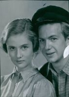 Close up photo of Stig Olin and Inga Landgré from film Ordet (The Word), 1943.