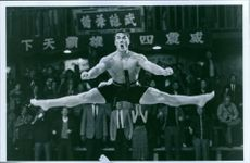 """A scene from the film """"Bloodsport"""", with Jean-Claude Van Damme as Frank Dux, 1988."""