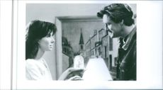 """A scene from the film """"While You Were Sleeping"""", with Bill Pullman as Jack Callaghan and Sandra Bullock as Narrator/Lucy Eleanor Moderatz, 1995."""