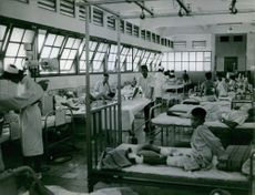 Wounded civilians during the war inside the hospital in Saigon, Vietnam, 1965.
