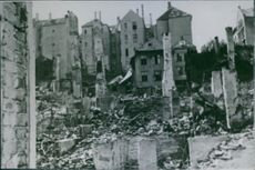 A damage area in Norway during World War II.