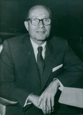 U.S. Personalities: Philip Klutznick, US Representative to UNESCO with the rank of Minister and a member of the U.S. delegation to the 12th session of the U.N. General Assembly. 1963