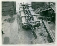 A view of machine in the garage, 1939.