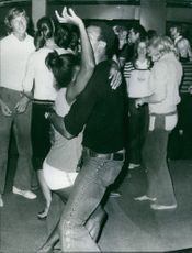 People dancing at the party after the Olympics in Munich 1972.