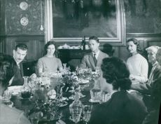 Prince René of Bourbon-Parma and Princess Margaret of Denmark with their family.