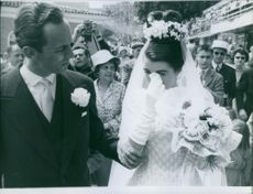 Wedding of Prince André of Bourbon-Parma with  Marina Gacry