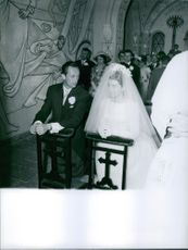 Wedding of Prince André of Bourbon-Parma with  Marina Gacry.