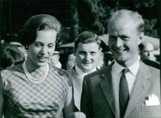 Princess Benedikte of Denmark and Richard, 6th Prince of Sayn-Wittgenstein-Berleburg.