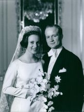 A photo of Wedding of Princess Benedikte of Denmark and Prince Richard Zu Sayn-Wittgenstein-Berleburg, 1968