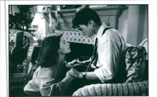 Tom Cruise and Jeanne Tripplehorn in a scene from the film The Firm, 1993.