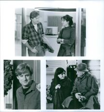 Different scenes from the film While You Were Sleeping with Peter Gallagher as Peter Callaghan, Sandra Bullock as Narrator/Lucy Eleanor Moderatz and Bill Pullman as Jack Callaghan, 1995.