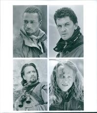 Portraits of Craig Fairbrass, Leon Robinson, Gregory Scott Cummins and Denis Forest in the film Cliffhanger, 1993.