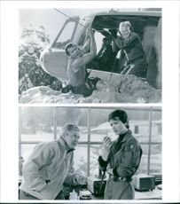 Different scenes from the film Cliffhanger with Michael Rooker, Ralph Waite and Janine Turner, 1993.