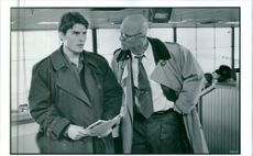 A scene from the film The Firm with Tom Cruise and Ed Harris, 1993.